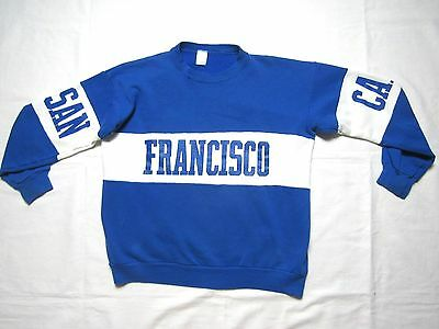 VINTAGE 80s SAN FRANCISCO CALIFORNIA crewneck spellout sweatshirt mens XL fits S