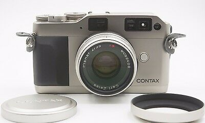 Contax G1 Modified Rangefinder Film Camera with Zeiss 35mm f/2 Lens - Excellent!