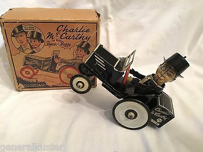 MARX 1938 CHARLIE McCARTHY AND HIS BENZINE BUGGY IN ORIGINAL BOX