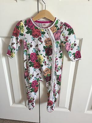 Lovely Girls Floral Sleepsuit From Ted Baker, Age 6/9 Months!