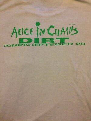 Super Rare OOP Alice In Chains Layne Staley Promo Shirt Dirt XL
