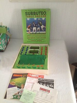 SUBBUTEO Table Soccer - Continental Club Edition. 1975 100% Complete Nice