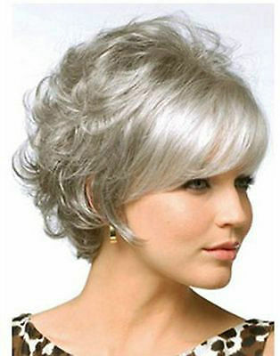 New Fashion Short Light Brown Mix Curly Women's Lady's Hair Wig Wigs
