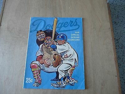 L.A. Dodgers / Chicago Cubs 1969 scorecard