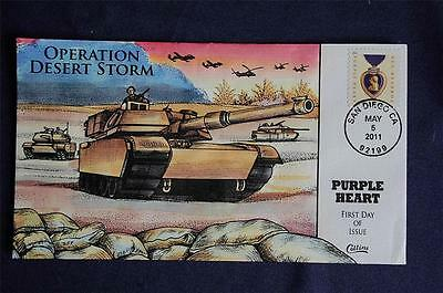 Purple Heart George Washington Forever Stamp FDC HP Collins# Sc#4529