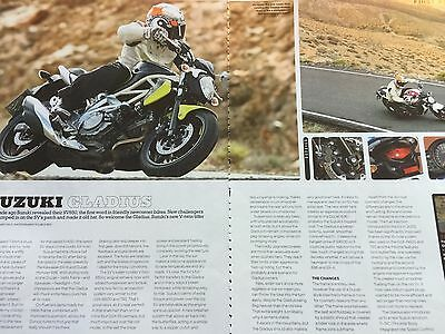 Suzuki Gladius - Original 3 Page Colour First Ride Motorcycle Article