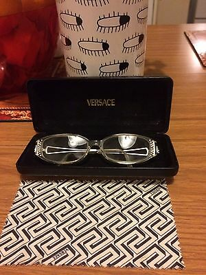 Genuine Pair Of Versace Glasses Model V82H In Transparent. Gorgeous