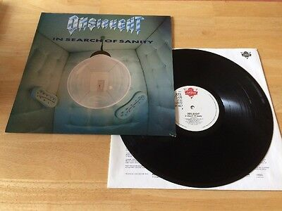 Onslaught - In Search Of Sanity LP London UK 1989 Thrash Metal