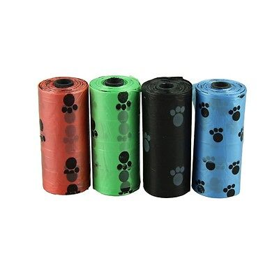 4Roll Degradable Pet Dog Waste Poop Garbage Clean Bag With Printing Doggy BagUS