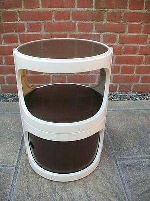 1960's FLAIR VINTAGE RETRO SPACE AGE PLASTIC CYLINDRICAL MODULAR SIDE CABINET