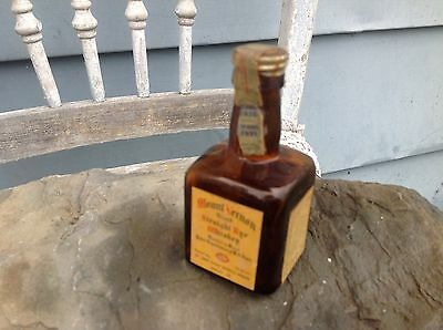Mount Vernon Straight Rye 100 Proof Whiskey Mini Miniature Bottle 1931 Tax Stamp