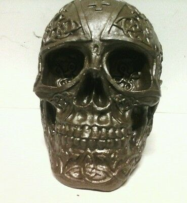 CELTIC HUMAN SKULL HEAD ORNAMENTS hand cast r