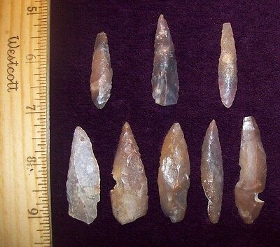 Neolithic Moroccan Arrowheads / Group of 8 (Blades)