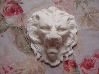 New! Majestic French Lion Head Center Architectural Pediment Furniture Applique