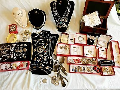 14k-18k-Gold-Silver-Costume Jewelry-Sterling-Scrap-Coin-Lot
