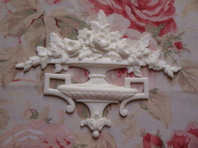 New! French Urn Roses Acanthus Center Architectural Pediment Furniture Applique