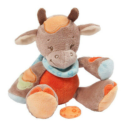 NEW NATTOU Little Garden Soft Plush Baby Toy - Mini Musical Cow