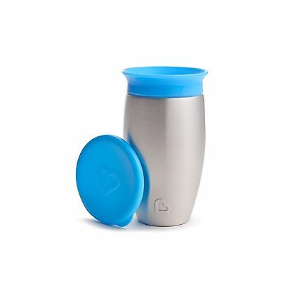 Munchkin Miracle Stainless Steel 360 Sippy Cup Blue 10 Ounce