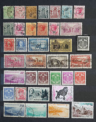 LOT OF MONACO OLD STAMPS - USED/UNUSED (2 pages)