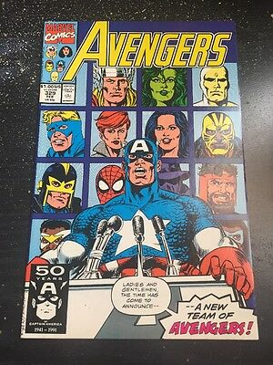 Avengers#329 Incredible Condition 9.4(1991) Spidey Joins Reserves