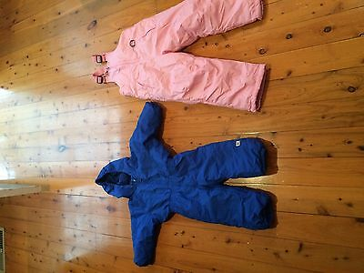 kids snow gear size 2 and 5-6