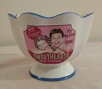 "Villeroy and Boch retro style ""Sweethearts Ice Cream"" Bowl ceramic first love"