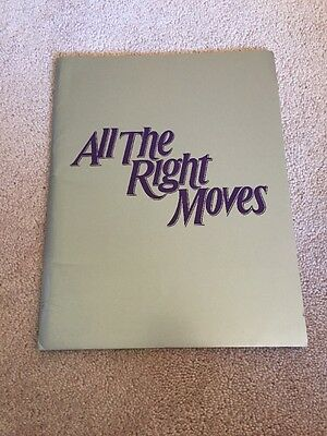 All The Right Moves 1983 Tom Cruise Movie Press Kit With Stills