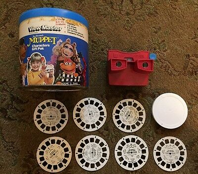 Jim Henson's Muppet View master Gift Pack W/ Viewer 7 Reels And Storage Ex. Cond