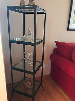 """Etagere 4 Glass Shelves 16 1/2""""by 16 1/2""""  By 60"""" Tall You Won't Find Better"""