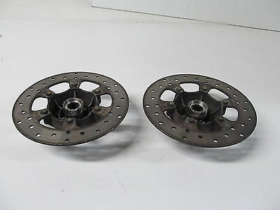 09-10 Piaggio Mp3 400 Oem Front Brake Discs Rotors