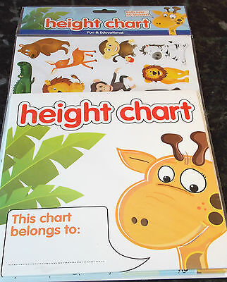Children's Height Chart with 40 stickers, chart up to 5 feet tall. 71 available.