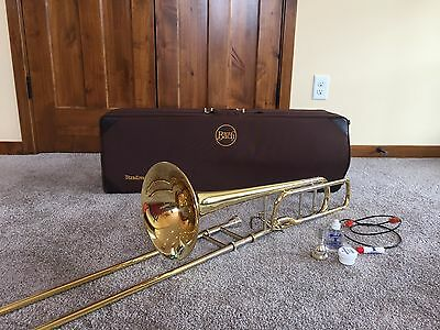 bach stradivarius trombone 42 w/ f-attachment - excellent condition!