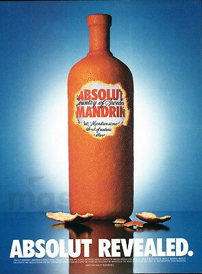Absolut Revealed vodka print ad 2000 Orange Peel