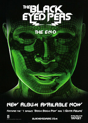 "Black-Eyed Peas 1-page 2009 print ad for the album ""The End"""