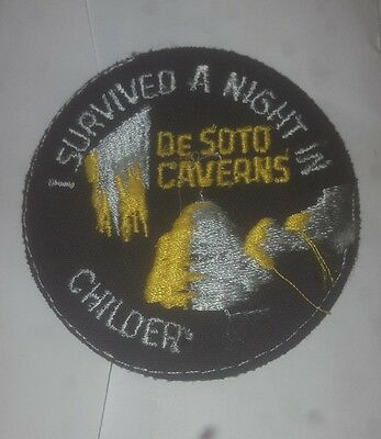 I  Survived a Night in De Soto Caverns Childersburg Alabama patch letters mising