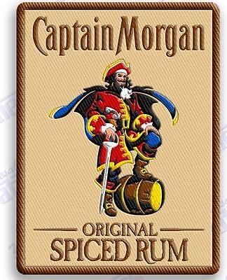"""CAPTAIN MORGAN SPICED RUM   iron on embroidery patch 3.4"""" X 2.6"""" Pirates Coke"""
