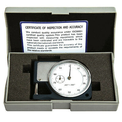 HFS 0.5 Thickness Gage Dial Micrometer Caliper Scope Sheet Paper Mic Guage