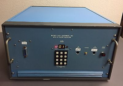 Matrix Test Equipment AFS-12A Filter Selector