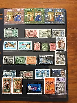 30 Stamps From TURKS&CAICOS ISLANDS