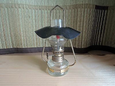 Hanging mini oil lamp with shade : vintage : made in Japan