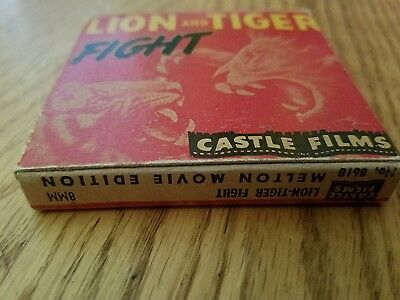 LION AND TIGER FIGHT  8mm Film IOB
