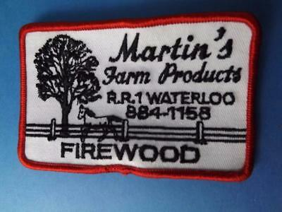 Martin's Farm Products Firewood Patch Vintage Waterloo Ontario Agriculture