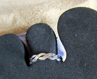 Toe Ring Sterling Silver 925 Adjustable Solid Band Women Midi Beach Boho New