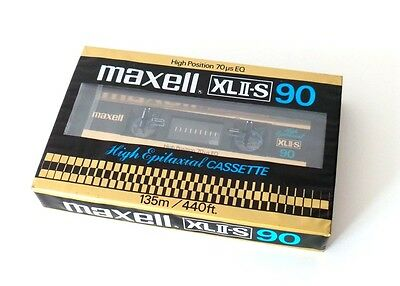 Cassette Tape Maxell Xlii-S 90 - Chrome Type Ii (Sealed) 1980 Made In Japan