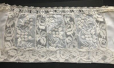 Ewardian  French Slip Top Incredible  Normandy Lace Floral Design  Decorated