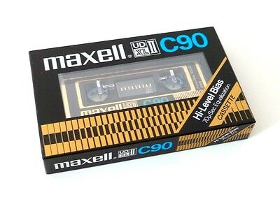 Cassette Tape Maxell Udxlii C90 - Chrome Type Ii (Sealed) 1980 Made In Japan