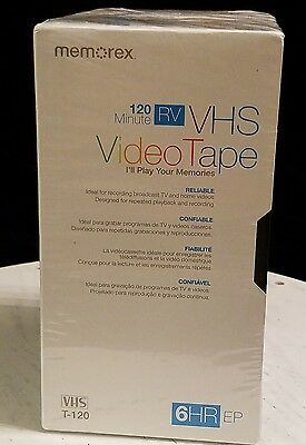 Pack of 5 MemorexT-120 RV  VHS Video Tape - Sealed