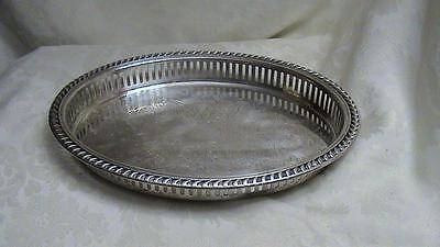 Vintage W & S Blackinton Fine Silverplate Reticulated Oval Serving Tray 892