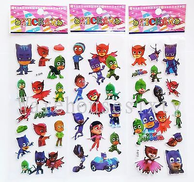 PJ MASKS PUFFY STICKERS.Lolly bag birthday Prizes SPECIAL OFFER BUY 5 GET 5 FREE
