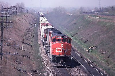 CN GP40-2W # 9445 EB at Lovekin Bridge